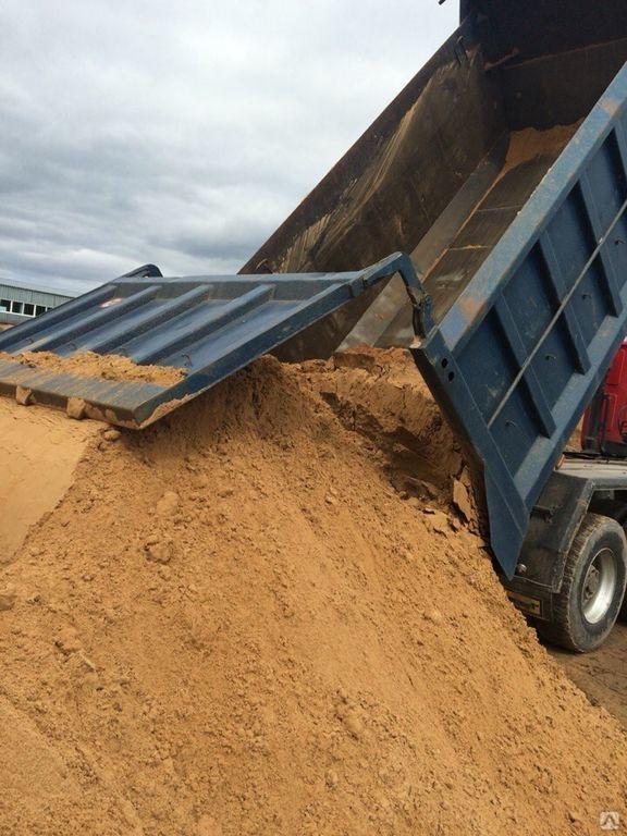 Доставка песка на объект